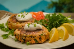 Wild-Salmon-Cakes-with-Sour-Cream